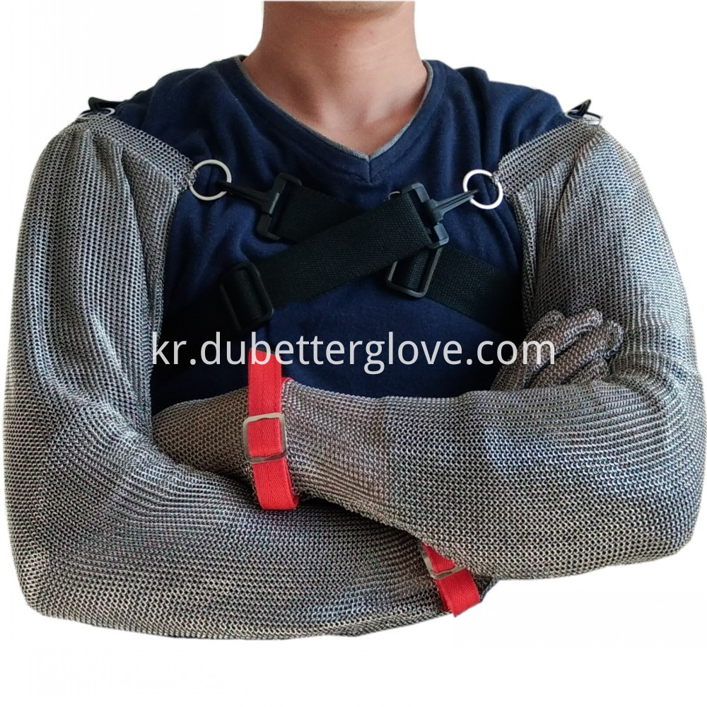 full arm protection metal mesh glovess
