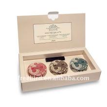Lata perfumada de la soja fijada en el embalaje de gama alta de la caja de cartón