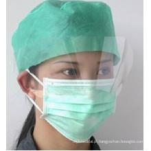 Anti-fog pet máscara facial descartável com escudo