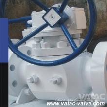 Funcionamento da engrenagem Válvula de esfera de entrada
