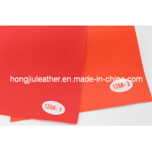 Red and Orange Litchi Pattern Car Interior PVC Leather
