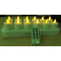 inductivamente recargable LED tealight velas con mando a distancia