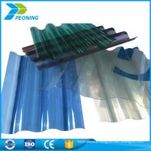 Anti corrosion corrugated perspex greenhouse plastic paneling fiberglass roofing sheets