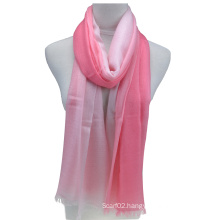 Fashion Ladies′ 100%Cashmere Scarf Dipped Dying (14-BR390801-1.5)