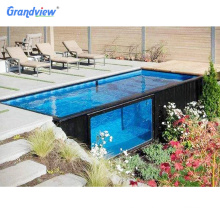 Grandview 20 ft container Black color swimming pool for new design pool container prefabricated
