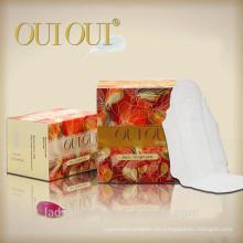 Trockener Webart-Abdeckung aber weicher als Cottony Aloe Vera Damen-Hygiene-Servietten