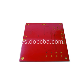 Red Solder Mask 1oz 4layers placa pcb personalizada