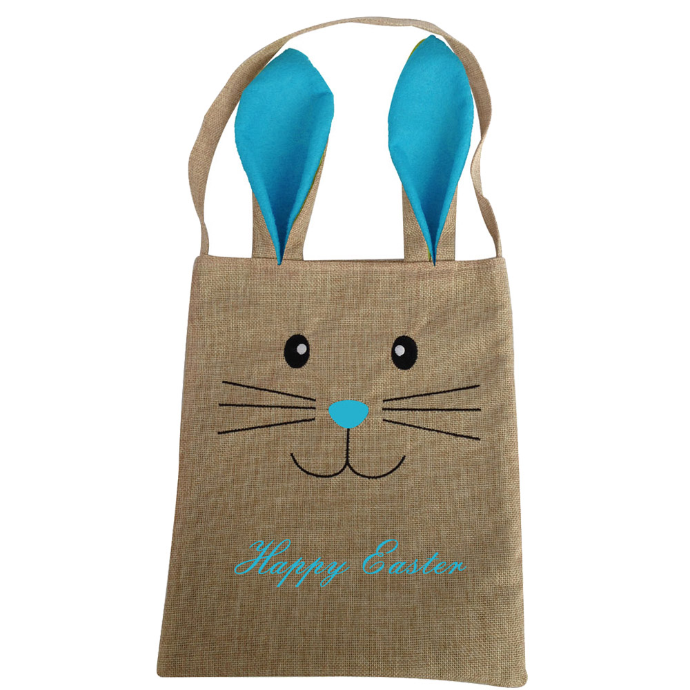 Burlap Easter Egg Bag