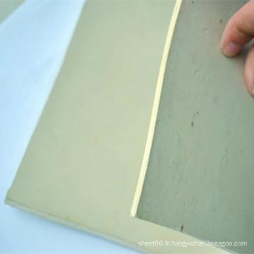 Plaque en caoutchouc de caoutchouc de plaque de caoutchouc de couleur chaude de vente de blanc