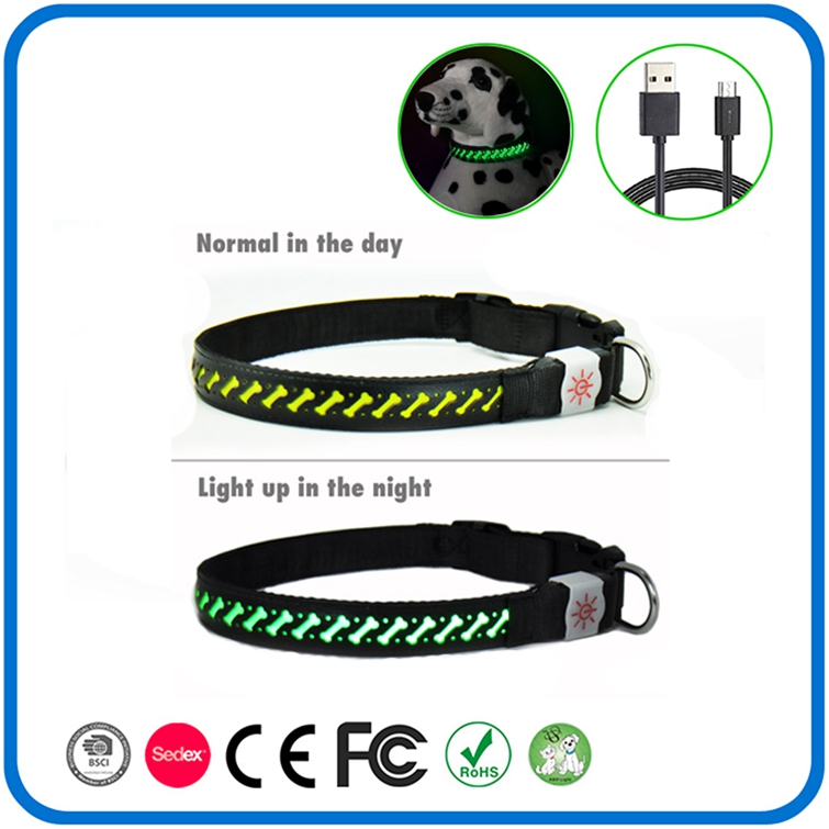 Hot Sale Knippert Gloeiende Led Light Dog Collar