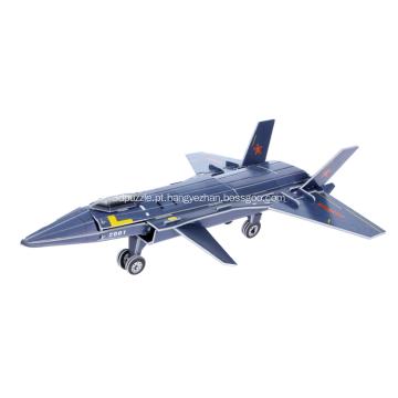 3D J-20 Stealth aeronaves quebra-cabeça