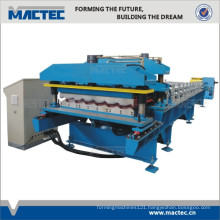 Auto double layer roofing tile forming machine