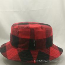 Chapéu de moda da cubeta da alta qualidade, chapéu verificado do pescador