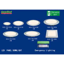 Recessed 8w Led Ceiling Panel Light With Ni-mh Rechargeable Batteries