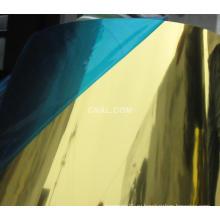 Золотые зеркальные панели для Colum