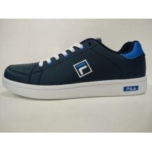 Повседневный темно-синий PU резиновые подошвы Skate обувь Обувь