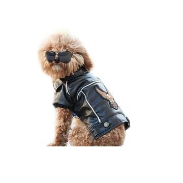 Manteau d'hiver pour chien en cuir PU
