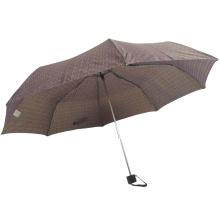 3 hochklappbare blumengemusterte Frauen Großhandel benutzerdefinierte manuelle offene Regenschirme
