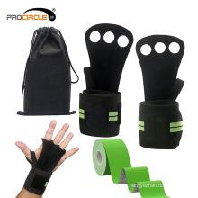 Luvas do esporte do GYM com luvas de levantamento de peso feitas sob encomenda do apoio de pulso