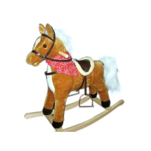 Hot Sale for for Baby Plush Rocking Horse Baby rocking horse LXRH-011 export to Armenia Suppliers