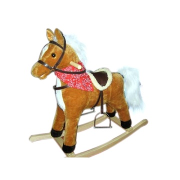 Low Cost for Best Plush Rocking Horses, Animal Rocking Horses, Baby Plush Rocking Horse, Plush Motorized Animal Manufacturer in China Baby rocking horse LXRH-011 supply to Comoros Factory