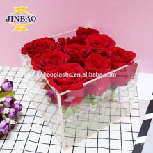 Jinbao acrylique boîtes en gros affichage 3mm transparent