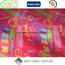 300t Taffeta Pongee Print Fabric Down Jacket Fabric