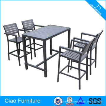 Bar Furntiure Plastic-wood High Table And Chair