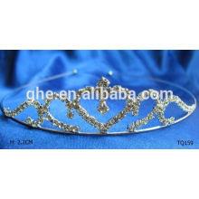 Nuevas tiaras coreanas de moda de la corona del estilo del rhinestone de la venta al por mayor de la manera