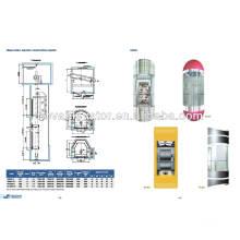 Panorama Aufzug Aufzug, rundes Glas Handels-Aufzug, Wohn-Panorama-Aufzug, Beobachtung Aufzug