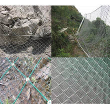 Hot DIP Drop-Down Anchor Rope / Slope Wire Mesh Fence / Rock Fall Protection Metal Mesh