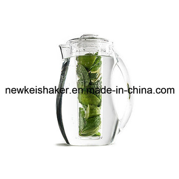 2L Acrylic Plastic Beer Pitcher with Ice Core Tube