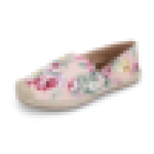 Fancy lady casual shoe floral print espadrille canvas shoe