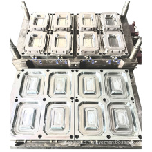customized precision multi cavity lunch box thin wall mould injection plastic food container mold