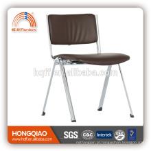 CV-B192BS-3 fixo PU de volta e assento de metal cromado base escola cadeira cadeira de escritório