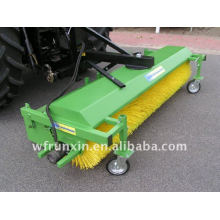 Tractor mounted road sweeper