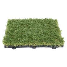 Factory Direct Price Interlocking Artificial Grass Tile Decorative Carpet Tiles