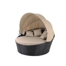 round seaside sofa bed with canopy