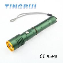18650 batería llevó la alta calidad del casco de la linterna