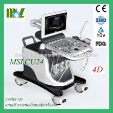 Système de diagnostic à ultrasons Doppler 4D approuvé CE MSLCU24M