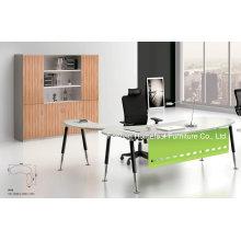 Mesa de escritório de design mais recente curvada com armação patenteada (BS-A02)