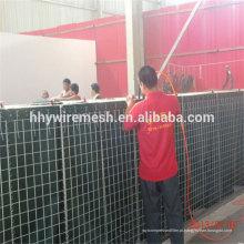 barreira galvanizada soldada do hesco da parede de retenção do controlo de cheias