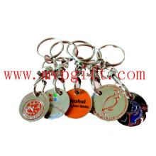 Metall Schlüsselanhänger mit Münzenhalter (m-TC008)