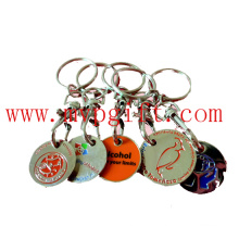 Metal Key Chain with Coin Holder (m-TC008)