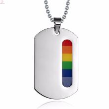 Moda Traje Gay Loja Rainbow Pingente Simples Jóias