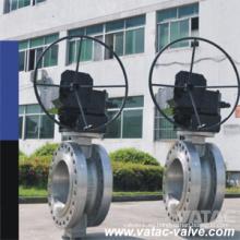 Válvula de mariposa del alto rendimiento del engranaje del reborde del RF del acero fundido