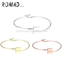 2017 manufacturer silver square LOVE bracelet with heart