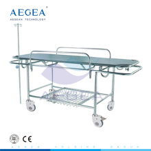 AG-HS015 Edelstahl Material Patient Transfer medizinische Krankenhaus Zimmer Bahre