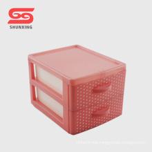 new style 2 layer plastic desk drawer storage box