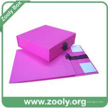 Caixa de presente de papel dobrável vermelha / pequenas caixas dobráveis do bebê